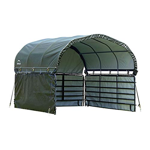 ShelterLogic 51483 10' x 10' Corral Shelter Enclosure Kit, Green