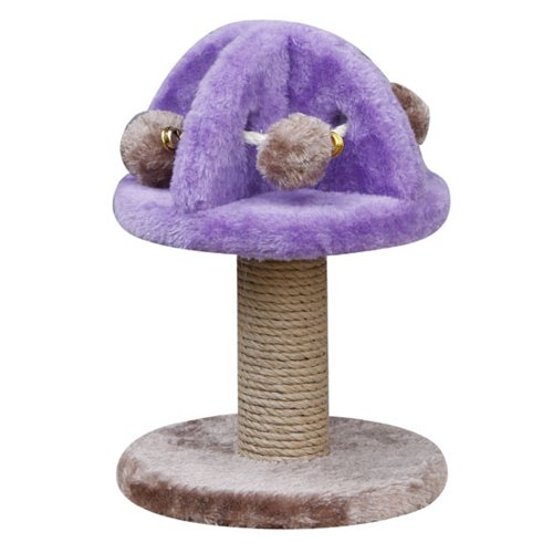 (Penn Plax (CATF32) Cat Scratching Post with Plush Cat Toys, Rings, and Rope, 11.5 Inches High)