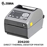 Zebra - ZD620d Direct Thermal Desktop Printer with LCD Screen - Print Width 4 in - 203 dpi - Interface: Bluetooth LE, Ethernet, Serial, USB - ZD62142-D01F00EZ