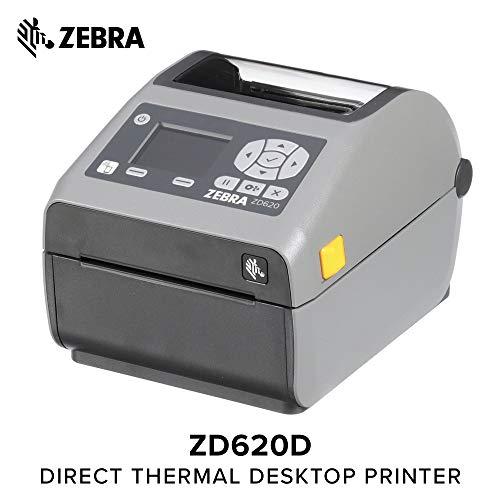 Zebra - ZD620d Direct Thermal Desktop Printer with LCD screen - Print Width 4 in - 203 dpi - Interface: Ethernet, Serial, USB - ZD62142-D01F00EZ