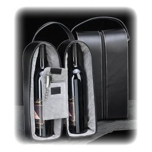 Bey-Berk Leather Wine Bottle Carrier Caddy Travel Tote Bag & Tool Set,Black -  BEY BERK, BS936