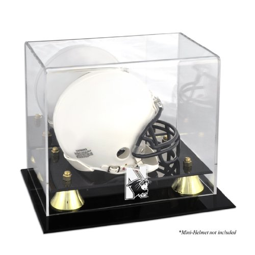 Northwestern Wildcats Logo Mini Helmet Display Case | Details: Golden Classic, Mirror - Wildcats Northwestern Authentic Helmet Mini