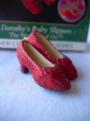 1998 Hallmark Miniature Ornament The Wizard of Oz Dorothy's Ruby Slippers # 1 The Wonders of Oz Series by Keepsake Ornament