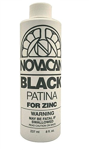 Novacan Black Patina For Zinc 8 oz Stained Glass Supplies