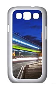 Samsung Galaxy S3 Case Cover - London Night Lights Brand Design PC White Case for Samsung S3/I9300