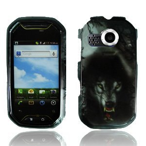 Pantech Crossover P8000 case (at&T), Luckiefind Design snap on Plastic Hard Case Cover (Wolf)