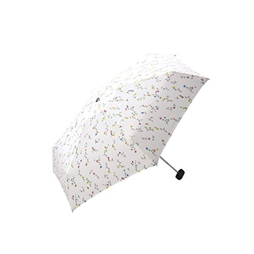 Hexiansheng Folding Umbrellas Travel Umbrellas for Windproof Shades Suitable for Ladies, Men, Children Small and Portable 17cm (Color : Off-White) by Hexiansheng (Image #3)