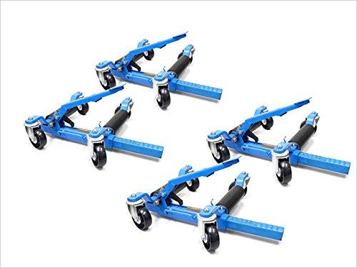 4台セット ホイールドーリー ゴージャッキ(カードーリー)【故障が少ない機械式】THM024-2 B07B8MQFDY 4台単品 ブルー