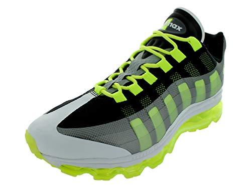 NIKE Air Max+ 95 BB Mens Running Shoes 511307-010 Black Volt-Dark Grey-Wolf Grey 7.5 M US