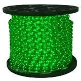 Queens of Christmas C-ROPE-LED-GR-1-10-12V Spool of 12 Volt LED Rope Light, 150', Green