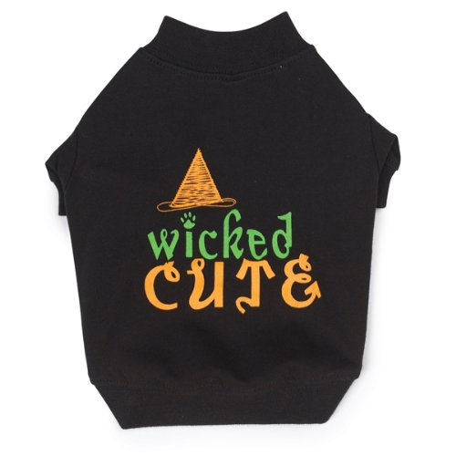 Zack and Zoey Polyester/Cotton Wicked Cute Dog Tee, Large, Black, My Pet Supplies