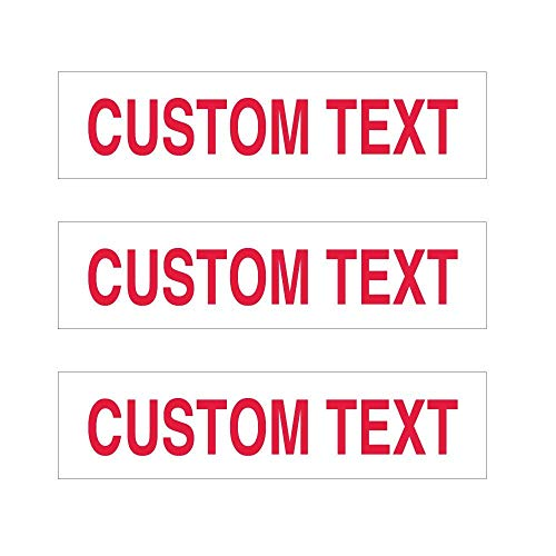 (3 Pack Personalized Metal Real Estate Rider Signs - 6 x 24 Inches - Double-Sided Aluminum Yard Signs - Choose Your Sign & Font Colors (White Background Red Text))