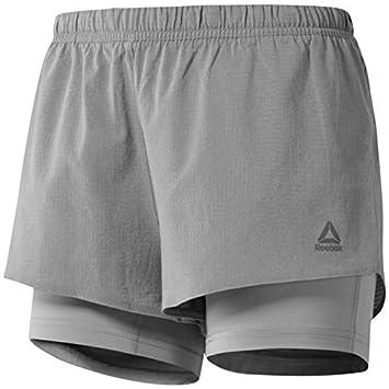 dabba2439 Reebok Pantalones Cortos 2 en 1 para Correr para Mujer  Amazon.es  Deportes  y aire libre