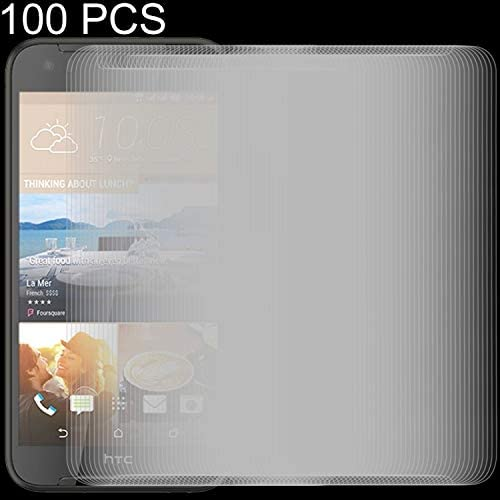 GzPuluz Glass Protector Film 100 PCS 0.26mm 9H 2.5D Tempered Glass Film for HTC Desire 830