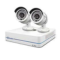 Swann SWNVK-470852-US 4-Channel 720p Network Video Recorder and 2 x NHD-806 Cameras (White)