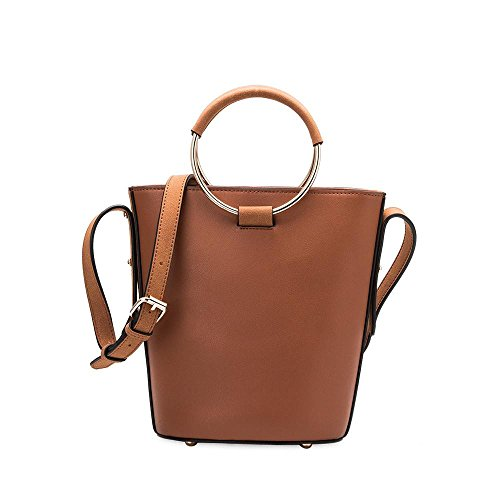 Melie Bianco Stella Large Women's Handbag Crossbody Top Handle Everydat Tote - Saddle (Melie Bianco Handbag Tote)