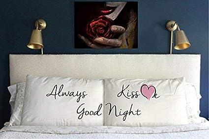 Amazon com: Home Decor Gift Set of 2 Always Kiss Me