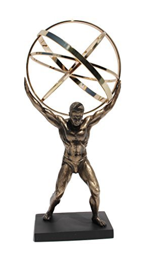 Atlas Carrying The Celestial Spheres Statue 9 Inch ()
