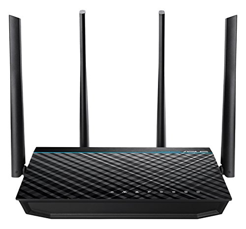 ASUS RT-ACRH17 Concurrent Dual Band AC1700 Wi-Fi Wireless Router with Gigabit LAN Ports, USB 3.0 and AiRadar Beamforming Technology (Wireless Routers With Usb)