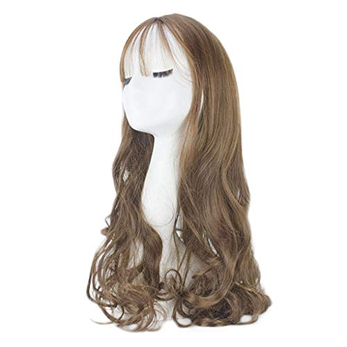 Anboo Women Long Curly Hair Party Custome Daily Synthetic Water Wave Natural Synthetic Mix Hair Wigs Full Wigs Long Hair
