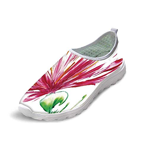 (TecBillion Watercolor Flower House Decor Comfortable Running ShoesOpened Out Asiatic Oriental Lily Freesia Florets Home Art for Men Boys,US)