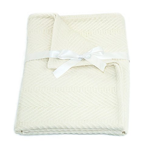 Cozy Bed Egyptian Cotton Baby Blanket, Ivory
