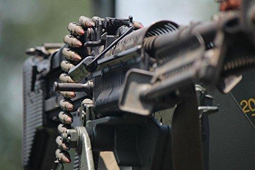 LAMINATED 36x24 Poster: M60 Machine Gun Army Firearm Gun Mac
