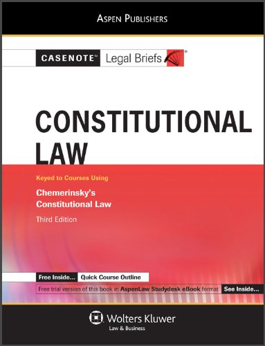 Constitutional Law: Chemerinsky 3rd Edition