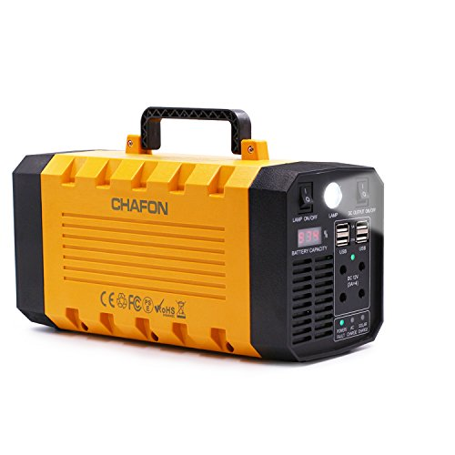 [Upgraded] Portable Generator 288WH UPS Battery Backup , Rechargeable Power Source with 500 Watt AC Outlet Inverter, USB, DC 12V Outputs for Camping and Indoors by CHAFON (Image #1)
