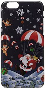 JUJEO Christmas Santa Comes to Town Pattern Smooth Hard PC Case for iPhone 6 - Non-Retail Packaging - Multi