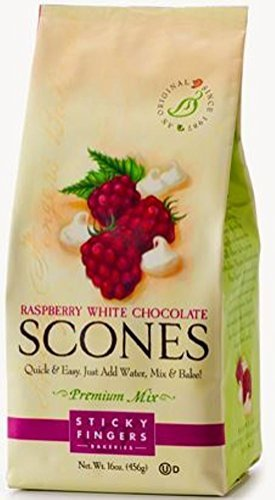 Sticky Fingers Raspberry White Chocolate Scone Mix, 15-Ounces (Pack of - Mix Scone Raspberry
