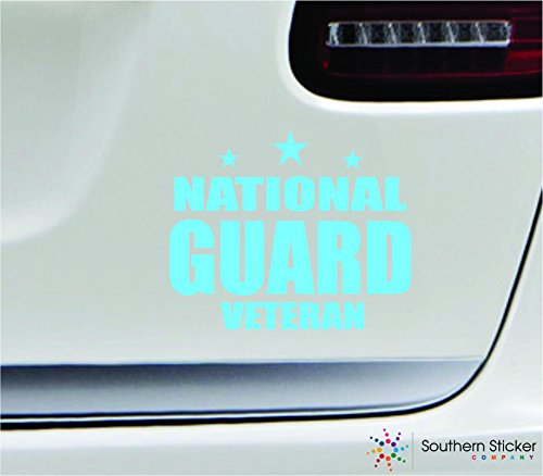 - National guard veteran 5.4x4.4 mint soldier military war veteran america united states color sticker state decal vinyl - Made and Shipped in USA