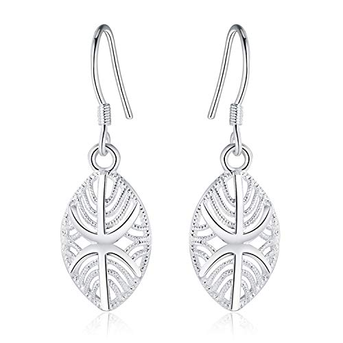 ZSTBT 925 Sterling Silver Earrings Fashion Beautiful Wedding Jewelry Pendant Earrings Retro Earrings