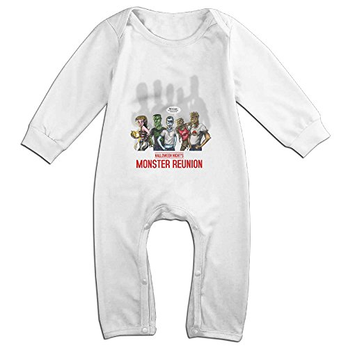 Raymond Here's Come The Monsters Long Sleeve Baby Climbing Clothes White 18 (Sea Monster Costume Ideas)