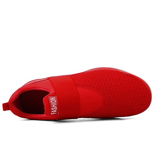 Another Summer Mens Breathable Mesh Slip-On Casual Shoes Red B2WUm2q2