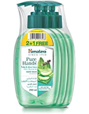 Himalaya Purehands Tulsi & Aloe Vera Hand Wash Effectively Protects Your Hands from Germs While Maintaining the Skin's Natural Moisture Level - 3x 250 Ml.