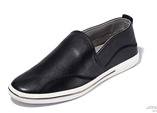 clearance finishline HAPPYSHOP(TM) Men's Casual Leather Ventilated Light Moccasin Slip-on Penny Loafers Driving Shoe Black discount store good selling cheap price cheap sale latest euZLA