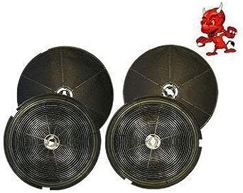Mega set de 4filtros de carbón activo Carbón filtro para campana ...
