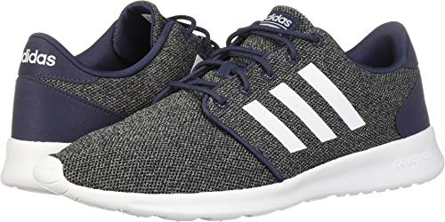 adidas Women's Cloudfoam QT Racer Running Shoe, Trace Blue/White/Black, 5.5 M US