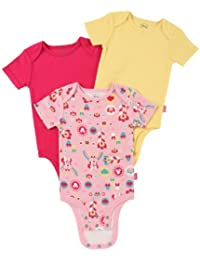 "Cuddly Bodysuit with Grow an Inch Snaps, Minnie Mouse ""Floral Rainbow"" 3 Pack"