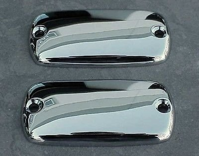 Valkyrie Motorcycle Parts - i5 Honda Valkyrie Goldwing VTX 1800 CHROME RESERVOIR CAPS.