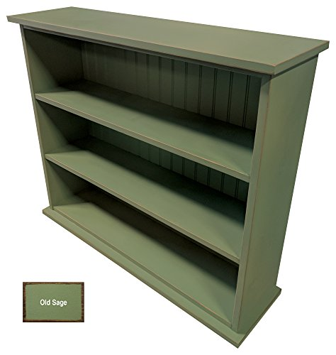 Sawdust City Solid Wood Hall Bookcase (Old Sage)