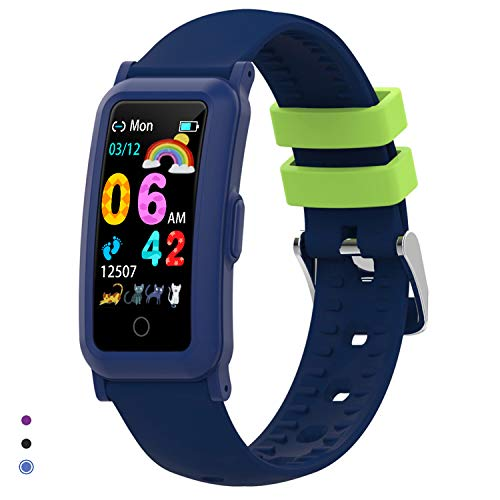 BingoFit Fitnesstracker voor kinderen, met bloeddruk, hartslagmeter en slaapmonitor, waterdicht, stappenteller…