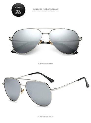 Caja hombres Gafas de gafas 2018 plata de Hombre Europa de de sol grande gafas tamaño y de gafas C11 Unidos los de polarizadas las mercurio Estados plaza sol sol polarizadas de qpUgq0w