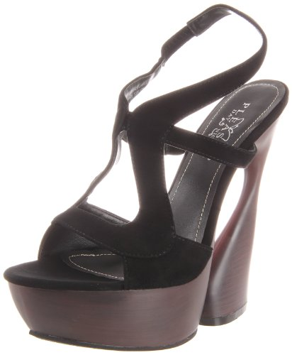 color 7 Sandalias mujer Night Day UK Pleaser 40 amp; negro talla WUaqSEXnc