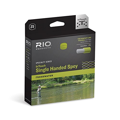 RIO Fly Fishing Fly Line InTouch Single Hand Spay 4 Fishing Line, Peach-Camo Spey Casting Rods