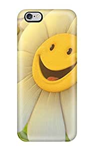 AllenJGrant Snap On Hard Case Cover Smiley Flower Happy Protector For Iphone 6 Plus