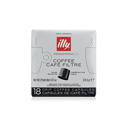 illy Coffee, iper Coffee Capsule, Dark Roast Drip Pods, illy iperEspresso Machines (18 ct)