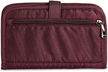 5a10de1b3983 Lug Women's Tandem Snap Passport Wallet, Shimmer Wine: Amazon.com ...