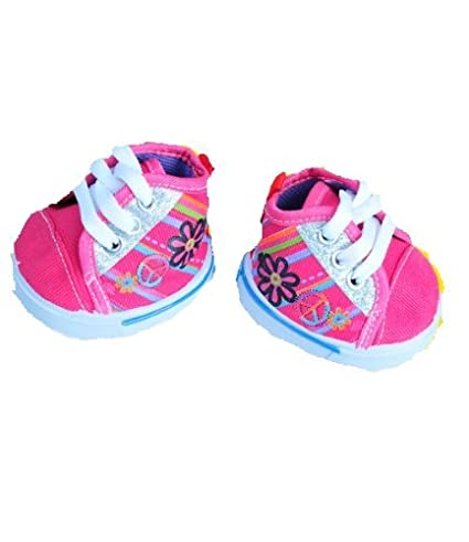 and Make Your Own Stuffed Animals by Stuffems Toy Shop Vermont Teddy Bears Pink Star Tennis Shoes Teddy Bear Clothes Fits Most 14-18 Build-a-bear
